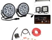 """Adventure Kings Domin8r Xtreme 7"""" Ultimate LED Light Pack + Dual Battery System"""