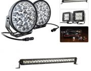 "Adventure Kings Domin8r Xtreme 9"" Ultimate LED Light Pack + 20"" LETHAL MKIII Slim Line LED Light Bar"