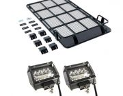 "Roof Top Tent Racks + 4"" LED Light Bar (Pair)"