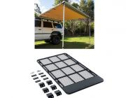 Steel Flat Rack suitable for 100/105 Series + Adventure Kings Awning 2.5x2.5m