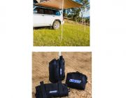 2.5 x 2.5m 2 in 1 Awning + Strip Light  + Adventure Kings Sand bag (pair)