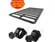 Adventure Kings Aluminium Platform Roof Rack Suitable for Toyota Landcruiser 200 Series 2007+ + Platform Roofrack Shovel Holder