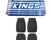 Adventure Kings Sunshade + Adventure Kings Deep Dish Floor Mats Set of 4