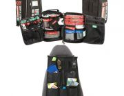 100+ Piece Survival 'Vehicle' First-Aid Kit + Car Seat Organiser