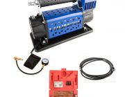 Thumper 12v Air Compressor 160L/M 150PSI + Hercules Tyre Repair Kit + Thumper Air Hose Extension 4m + Tyre Deflator - Kwiky