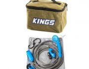 Adventure Kings Toiletry Canvas Bag + Portable Shower Kit