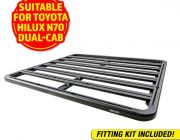 Adventure Kings Aluminium Platform Roof Rack Suitable for Toyota HiLux N70 Dual-Cab 2004-2015