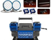 """Ultimate 7"""" OSRAM LED Domin8rX Driving Light Pack + Thumper Max Dual Air Compressor"""