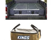Universal Ute Wing Kit - Wings For 1300mm Titan Drawers +  Adventure Kings Clear Top Canvas Bag