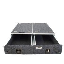 Titan Drawer System - 1070mm (without wings) | Suitable for most 4WD Wagons | Inc. Fridge Slide