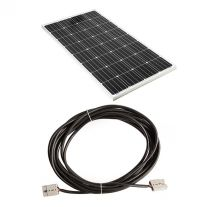 Adventure Kings 160w Fixed Solar Panel + 10m Lead For Solar Panel Extension