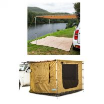 2 x 3m 2 in 1 Awning + Strip Light + Adventure Kings Awning Tent (suits 2m x 3m Awning)