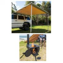 Adventure Kings Awning 2.5x2.5m + Camp Oven Stove