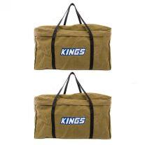 2x Kings Campfire BBQ Canvas Bag