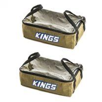 2 x Adventure Kings Clear Top Canvas Bag