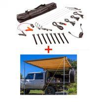 Adventure Kings 2x3m Awning + Illuminator 4 Bar Camp Light Kit