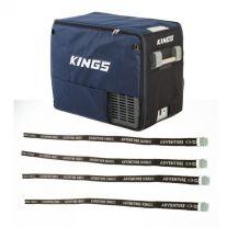 Adventure Kings 60L Camping Fridge Cover + Fridge Tie Down Straps (4 pack)