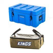 Adventure Kings 78L Tough Tool Box + Adventure Kings Clear Top Canvas Bag