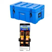 Adventure Kings 78L Tough Tool Box + Hercules Heavy Duty 3m Ratchet Strap (2 pack)