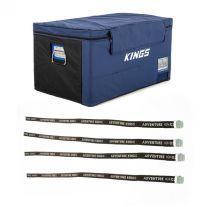 Kings 90L Fridge Cover + Fridge Tie Down Straps (4 pack)