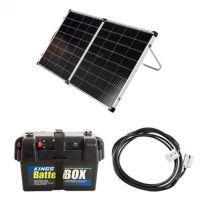 Kings Premium 160w Solar Panel with MPPT Regulator + Battery Box + 10m Lead For Solar Panel Extension