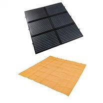 Adventure Kings 200W Portable Solar Blanket + Mesh Flooring 3m x 3m