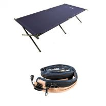 Adventure Kings Camping Stretcher Bed + LED Strip Light