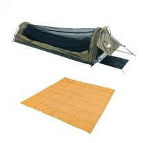 Adventure Kings Single Swag - Kwiky + Adventure Kings - Mesh Flooring 3m x 3m
