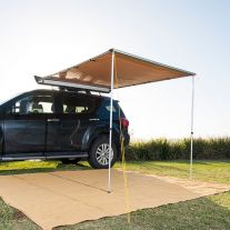 2 x 2.5m 2 in 1 Awning + LED Strip Light - UPF50+   Waterproof   Suits All Vehicles   Adventure Kings