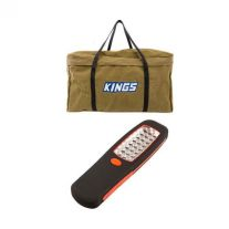 Kings Campfire BBQ Canvas Bag + Kings LED Work Light