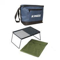 Adventure Kings Camp Fire BBQ Plate + Cooler Bag