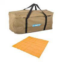Deluxe Single Swag Premium Canvas Bag + Mesh Flooring 3m x 3m