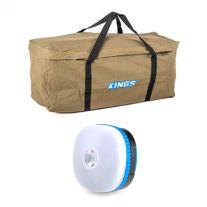 Deluxe Single Swag Premium Canvas Bag + Mini Lantern
