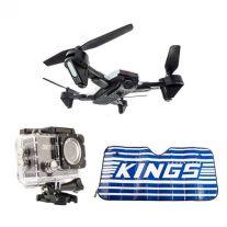 Adventure Kings Cyclone Drone + Adventure Kings Action Camera + Sunshade