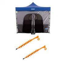 Adventure Kings Gazebo Tent + 2x GroundGrabba - Lite