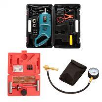 Hercules 12v Impact Wrench + Kwiky Tyre Deflator + Tyre Repair Kit
