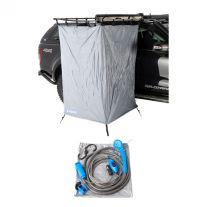 Kings Instant Ensuite Awning Shower Tent + 12v Portable Shower Kit