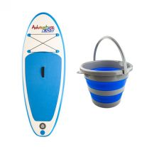 Kids Inflatable Stand-Up Paddle Board + Collapsible 10L Bucket