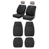 Adventure Kings Neoprene Front Seat Covers + Adventure Kings Deep Dish Floor Mats Set of 4