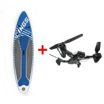 Adventure Kings Inflatable Stand-Up Paddle Board + Cyclone Drone