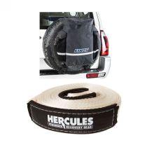 Hercules 8000kg Snatch Strap + Premium 48L Dirty Gear Bag