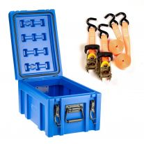 Kings 45L Tough Front Opening Storage Box + Hercules Heavy Duty 3m Ratchet Strap (2 pack)