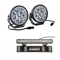 """Adventure Kings Domin8r Xtreme 7"""" LED Driving Lights (Pair) + 15"""