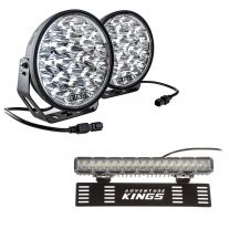 """Adventure Kings Domin8r Xtreme 9"""" LED Driving Lights (Pair) + 15"""