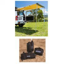 Adventure Kings Rear Awning 1.4 x 2m + Awning Sand Bag Kit (pair)