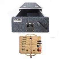 Titan Single Drawer 900mm + Adventure Kings Premium Tool Roll
