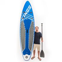 Kings Inflatable Stand-Up Paddle Board | 10ft 6in | HUGE 150kg rating | Inc. paddle & more