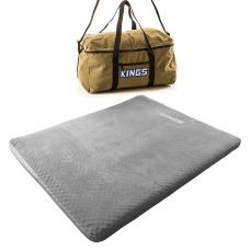 Adventure Kings Self Inflating 100mm Foam Mattress - Queen + Travel Canvas Bag