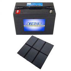 Adventure Kings 200W Solar Blanket with MPPT + Kings 98Ah AGM Deep Cycle Battery