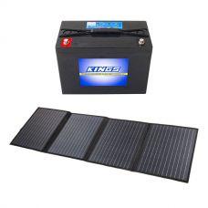 120W Solar Blanket with MPPT Regulator + Kings 98Ah AGM Deep Cycle Battery